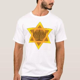 T-shirt Étoile de David avec Menorah