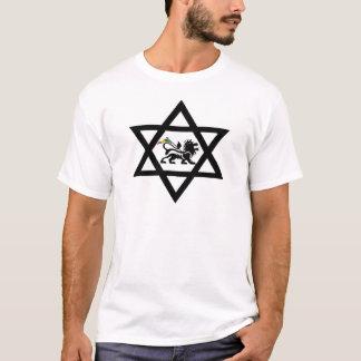 T-shirt étoile de David c/Lion de Judá