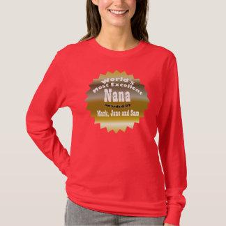 T-shirt ÉTOILE D'OR. Nana la plus excellente du monde