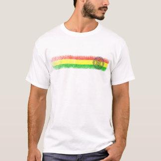 T-shirt Étoile et croix de reggae de Rasta