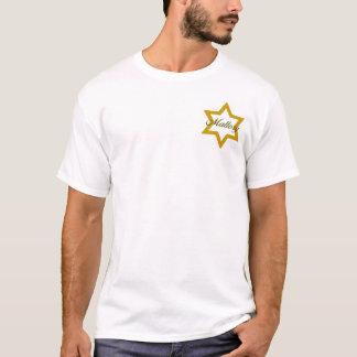 T-shirt Étoile juive d'or avec le nom