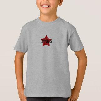 T-shirt Étoile rouge sur la pièce en t grise de solides