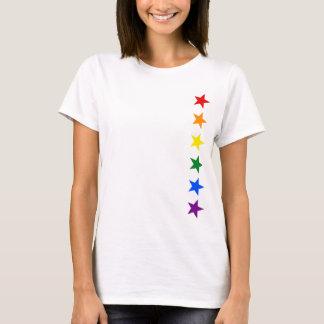 T-shirt ÉTOILES DE DRAPEAU D'ARC-EN-CIEL + vos idées