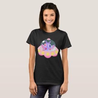 T-shirt étranger en pastel de douille du raglan