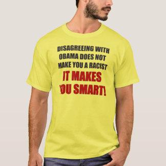 T-shirt Être en désaccord avec Obama
