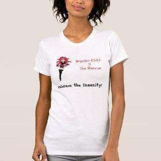 T-shirt Étreinte bipolaire de poussin la folie