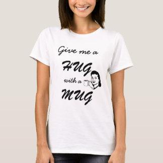 T-shirt Étreinte mignonne avec un rétro drôle de