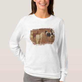 T-shirt Étude de cinq chevaux