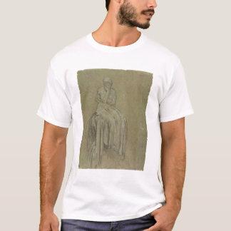 T-shirt Étude pour la solitude, c.1890 (craie sur le