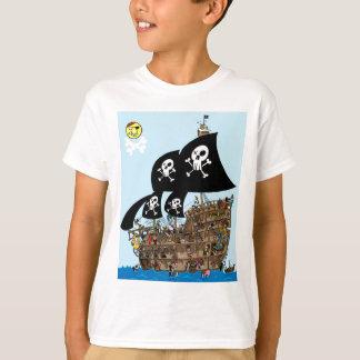 T-shirt Évasion de bateau de pirate