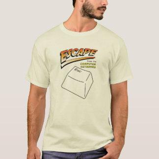 T-shirt Évasion de la chemise de clavier d'ordinateur