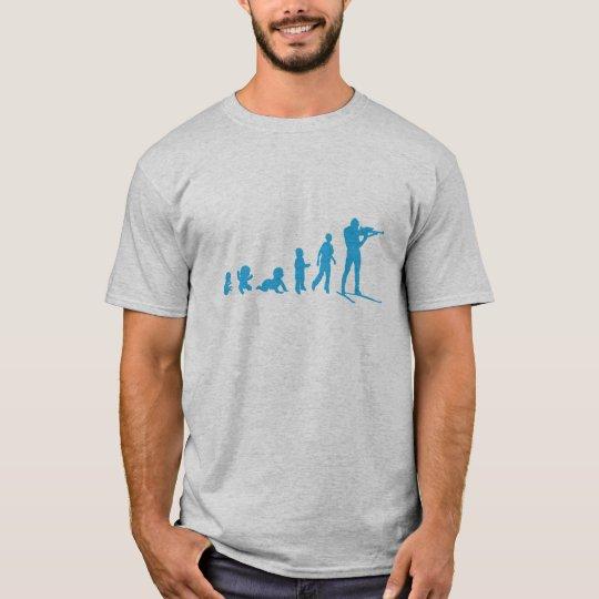 T-shirt evolution biathlon tir debout