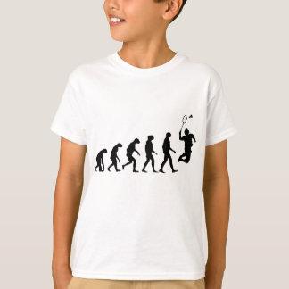 T-shirt Évolution de badminton