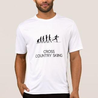 T-shirt Évolution de ski de pays croisé