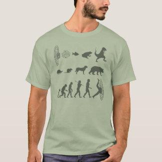 T-shirt Évolution de tee - shirt continu d'espèces