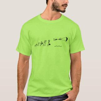 T-shirt évolution des hommes kiteboarding