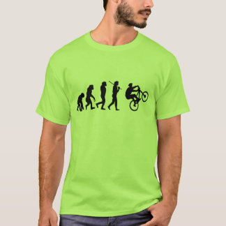 T-shirt Évolution du cycliste