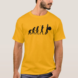 T-shirt Évolution d'un batteur bas (couleurs claires)