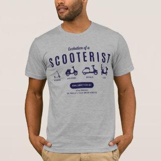 T-shirt Évolution d'un Scooterist - copie de marine