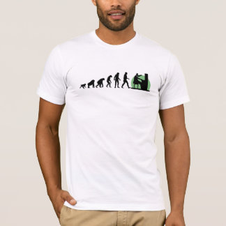 T-shirt Évolution humaine : Pianiste