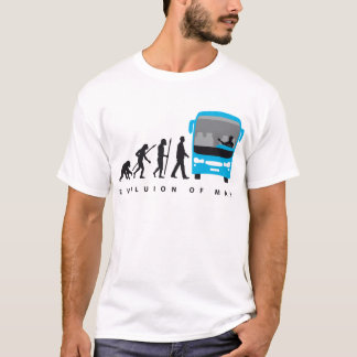T-shirt évolution of autobus plus driver