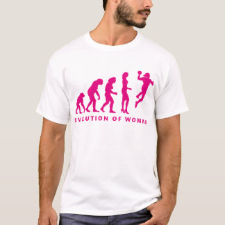 T-shirt évolution of handball woman