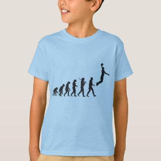 T-shirt Évolution - saut de basket-ball