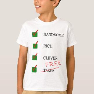 T-shirt ex libre beau, riche, intelligent d'ami