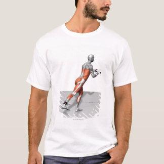 T-shirt Exercice de patineur de câble
