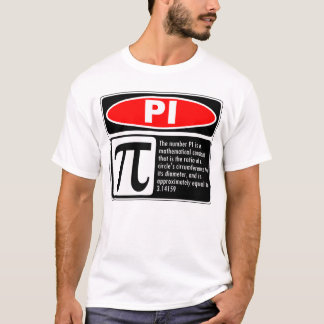 T-shirt Explication de pi