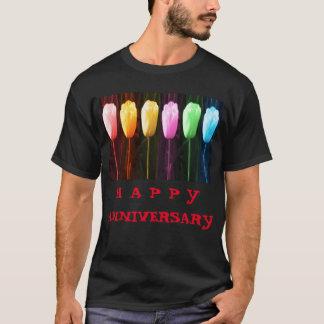 T-shirt Exposition HEUREUSE de tulipe du pétale de rose n