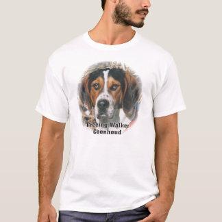 T-shirt expressif de Coonhound de marcheur de