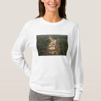 T-shirt Extraction de l'or alluviale. Forêt tropicale,