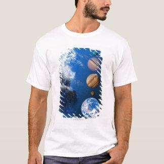T-shirt Extrémité de l'ordinateur conceptuel du monde en