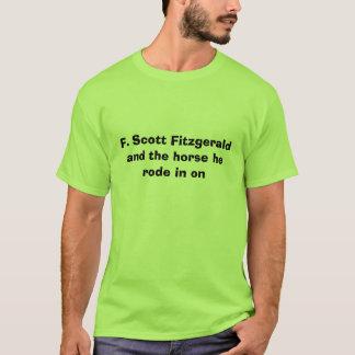 T-shirt F. Scott Fitzgerald et le cheval qu'il est monté