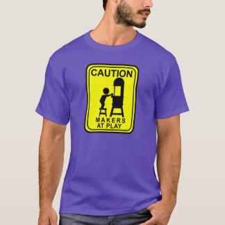 T-shirt Fabricants de précaution au jeu - scie à ruban