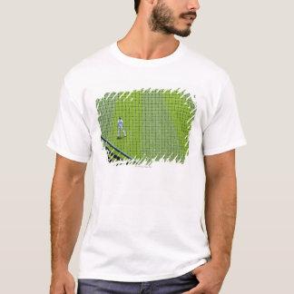 T-shirt Fabrication avec le joueur de baseball sur l'herbe