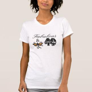 T-shirt Fabuleux et 40, chemise orange de libellule