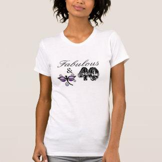 T-shirt Fabuleux et 40, chemise pourpre de libellule