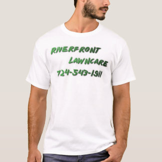 T-shirt Façade d'une rivière Lawncare
