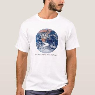 T-shirt fâché de la terre