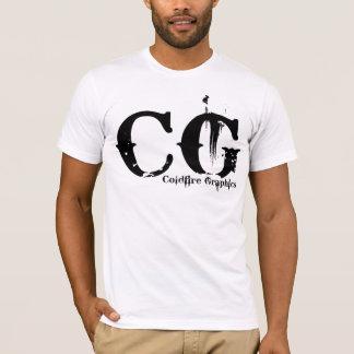 T-shirt Facteur de blanc de CG.