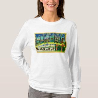 T-shirt Fairbanks, Alaska - grandes scènes de lettre
