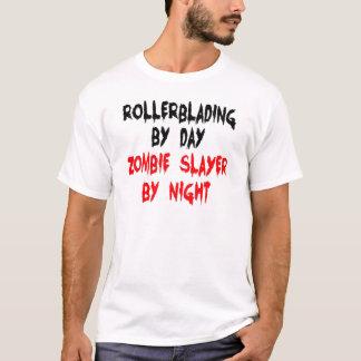 T-shirt Faire du roller par le tueur de zombi de jour par