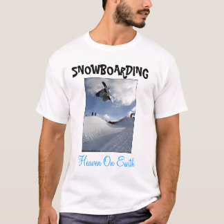 T-shirt Faire du surf des neiges