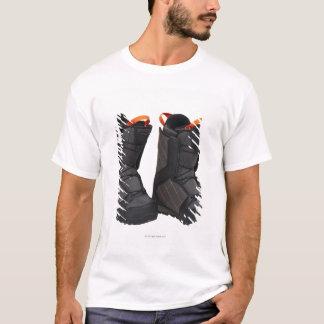 T-shirt Faire du surf des neiges des bottes sur l'arrière