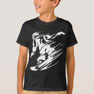 T-shirt Faire du surf des neiges le sport extrême
