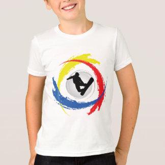 T-shirt Faire du surf des neiges l'emblème tricolore