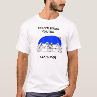 T-shirt Faire du vélo tandem