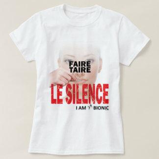 T-shirt faire taire le silence